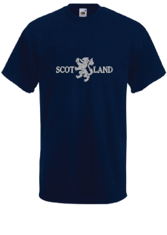 scotland-lion-embroidered-tshirt-navygrey-x-x-large